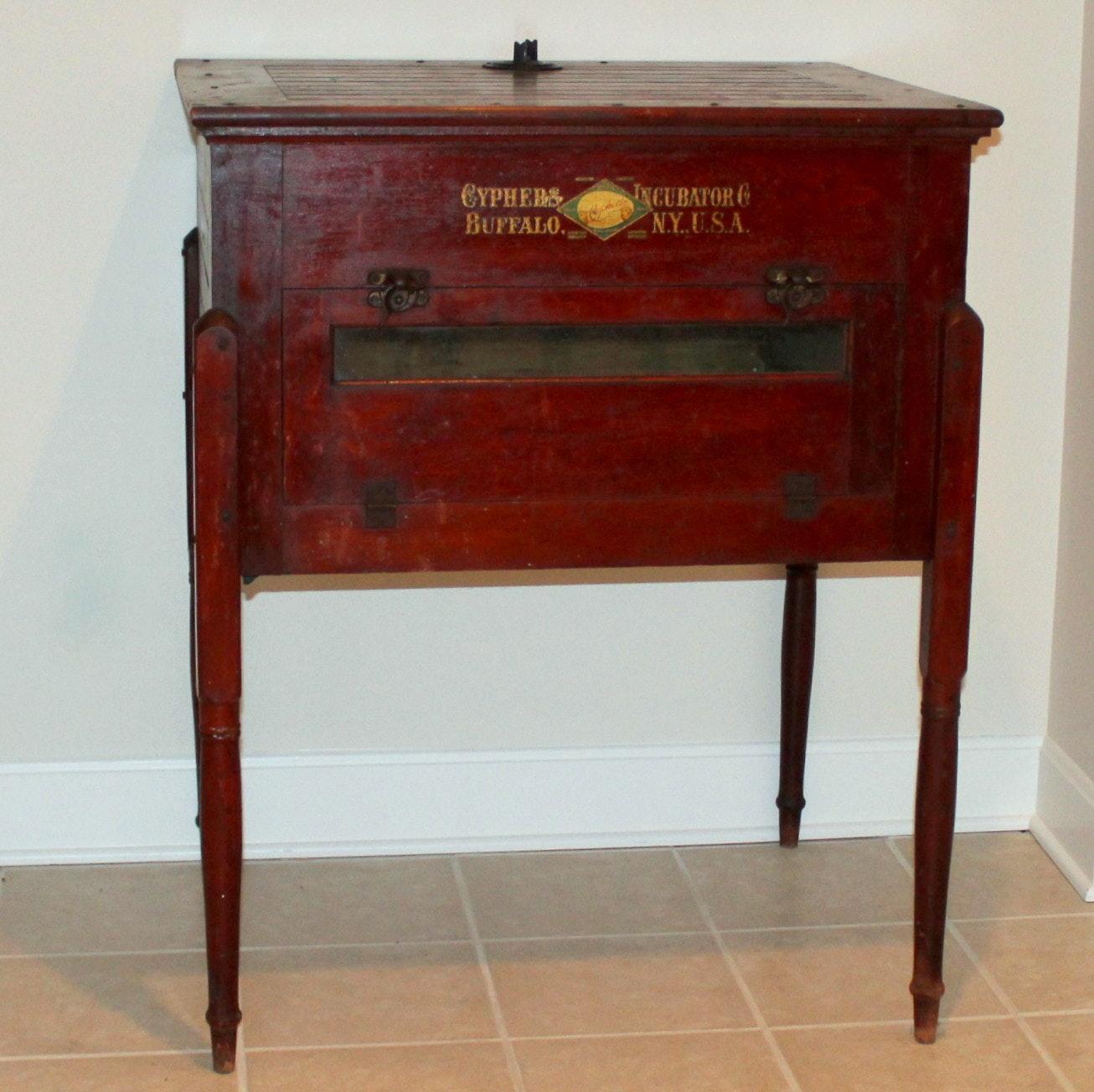 Antique Table from Repurposed Incubator