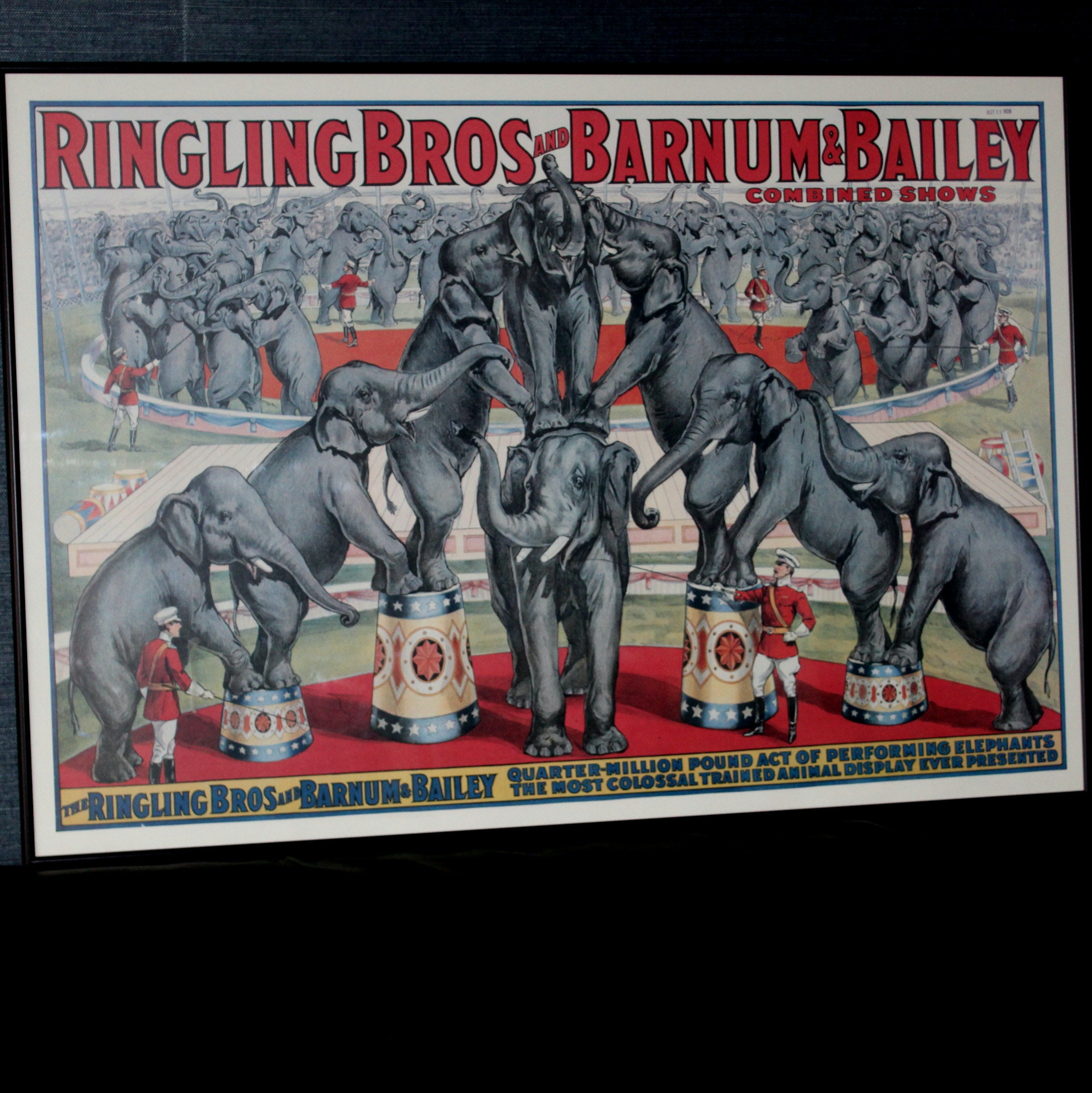 Vintage Ringling Elephant Circus Poster
