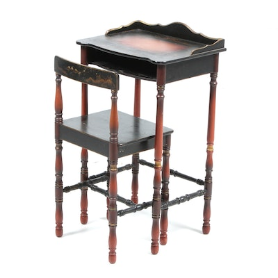 Southampton furniture fruitwood finish desk ebth for Asian inspired desk