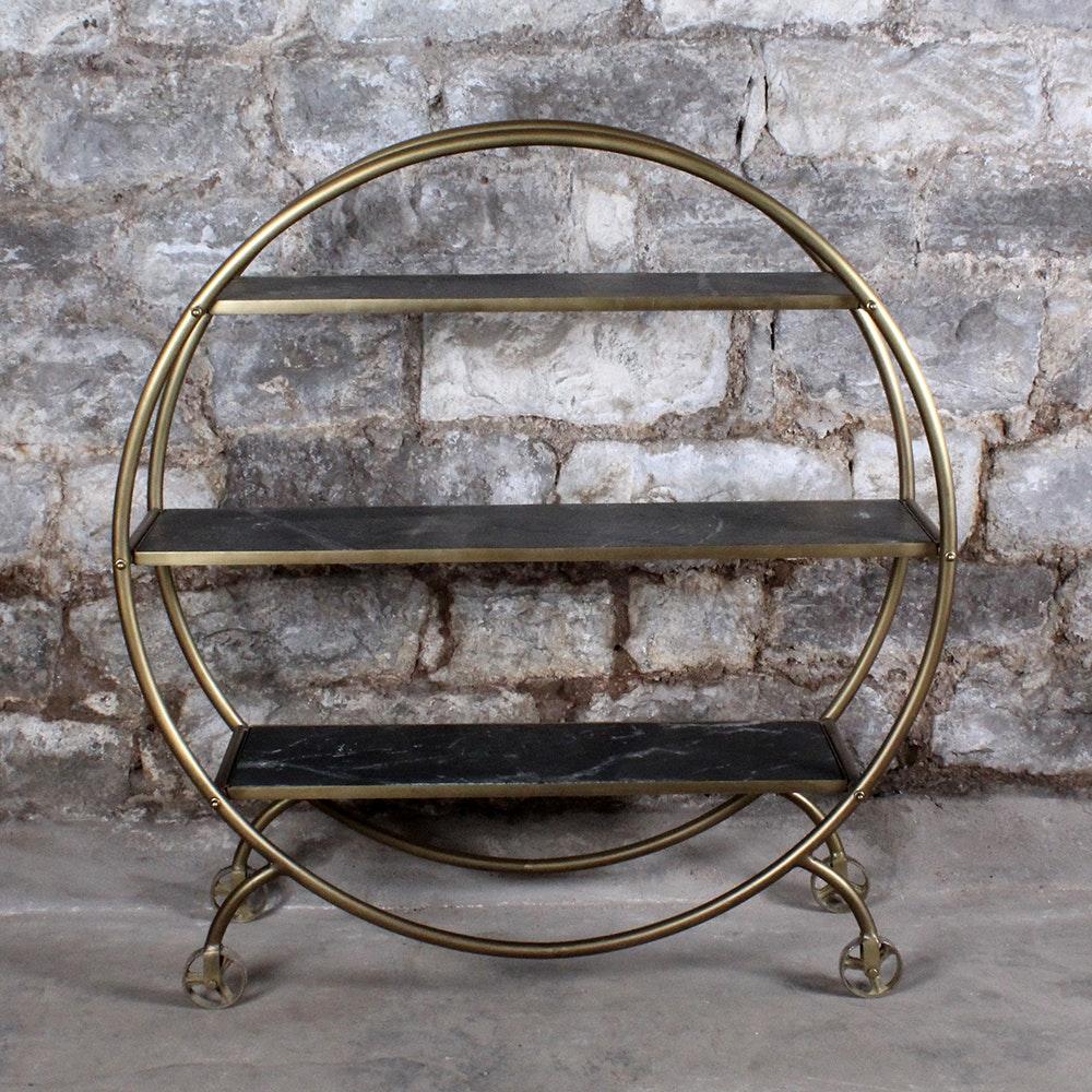 Art Deco Circular Bar Cart
