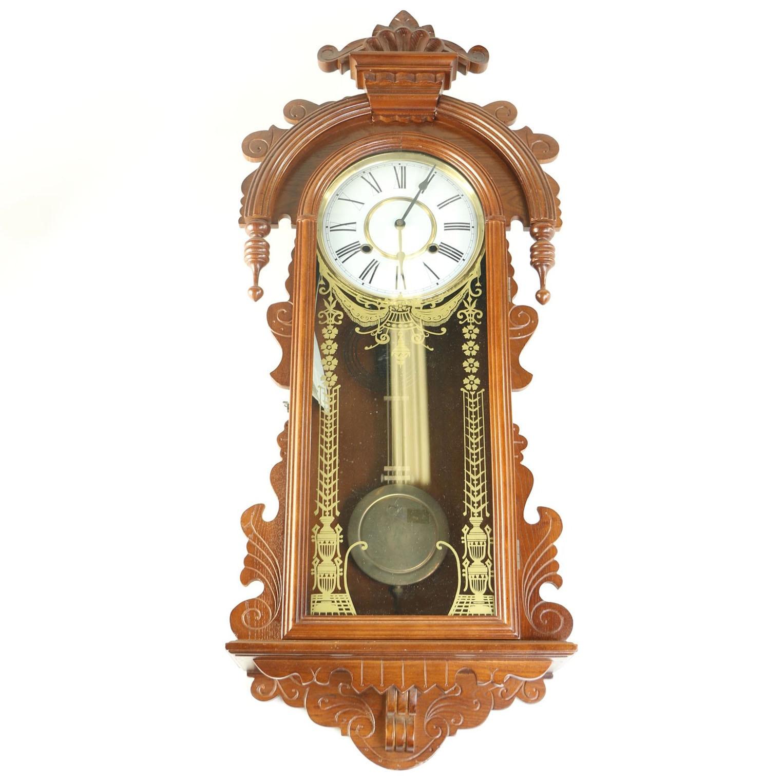 Ornate Gilt Pendulum Wall Clock