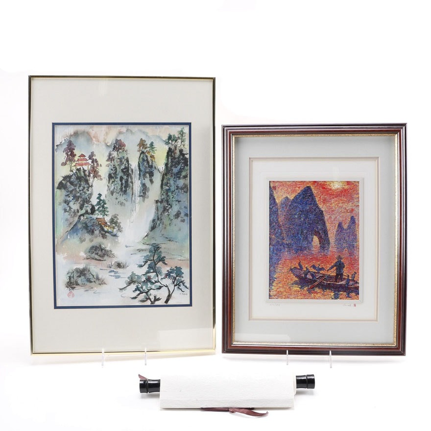Charlotte Fung Miller Chinese Brushwork Landscape and Other Asian Inspired Artwork