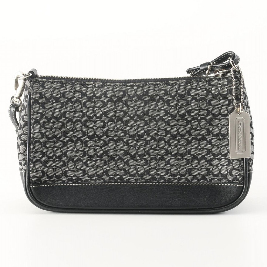 9a1c98af1a Coach Black and White Handbag : EBTH