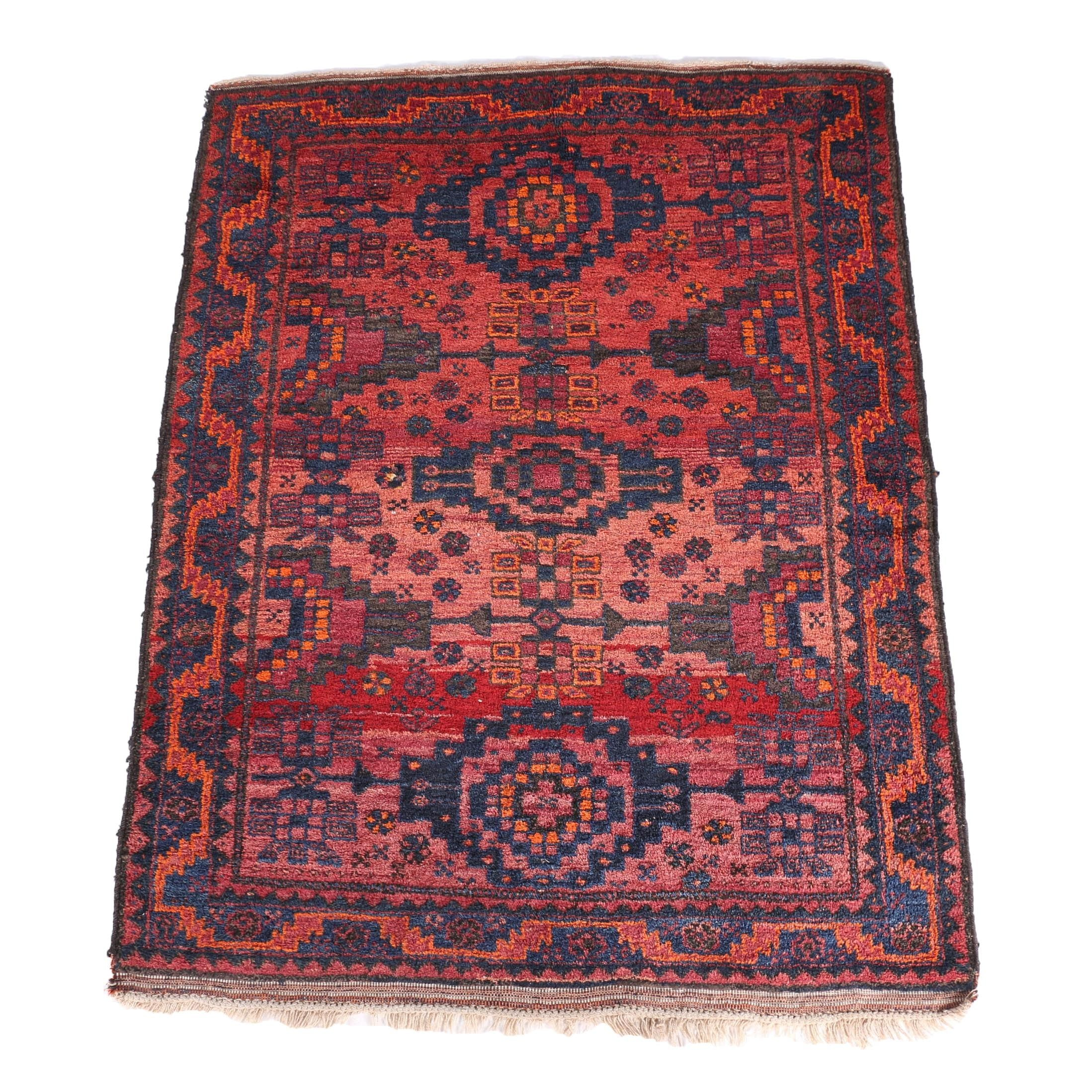 Semi-Antiqued Hand Knotted Salor Turkman Area Rug