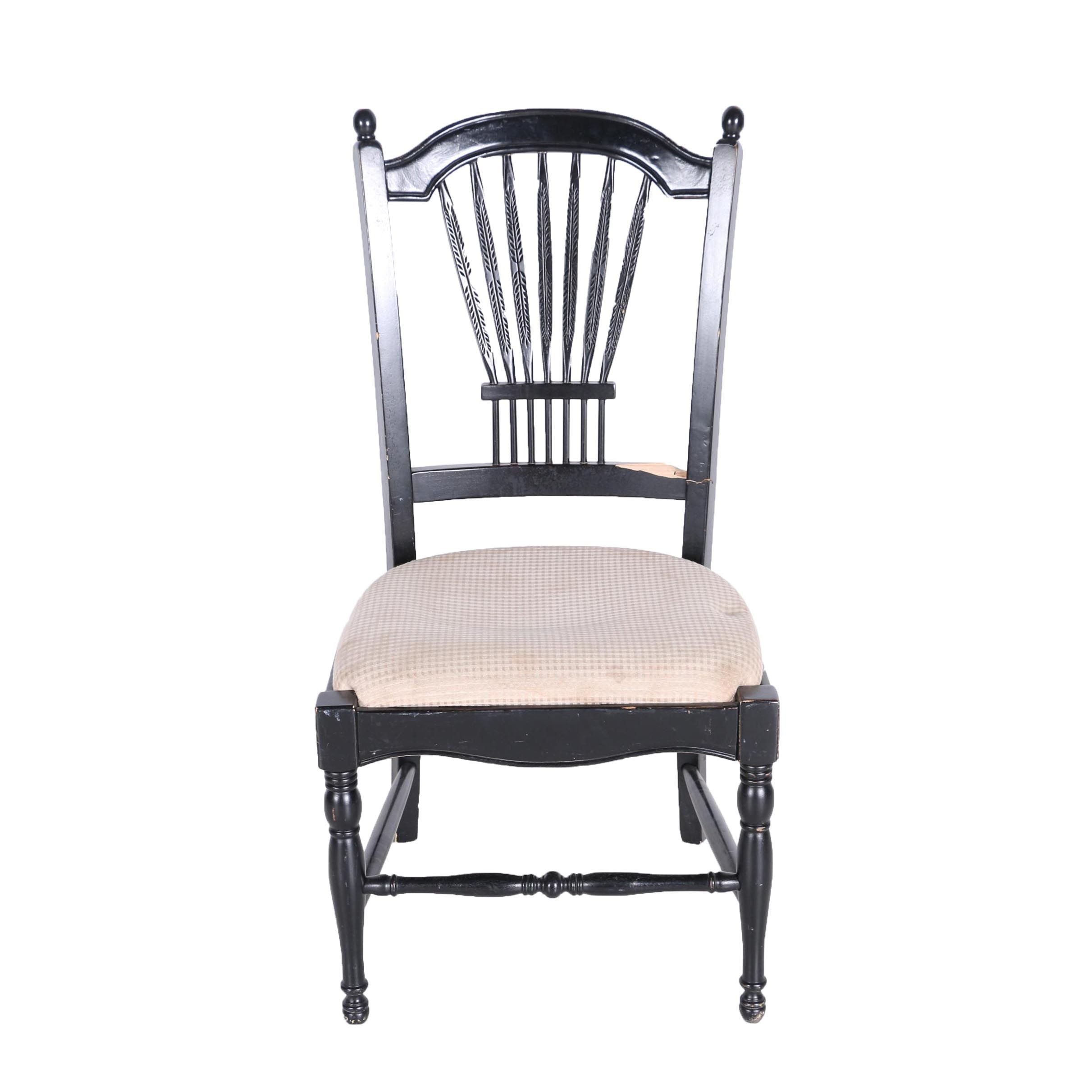 Contemporary Black Sheraton Style Side Chair