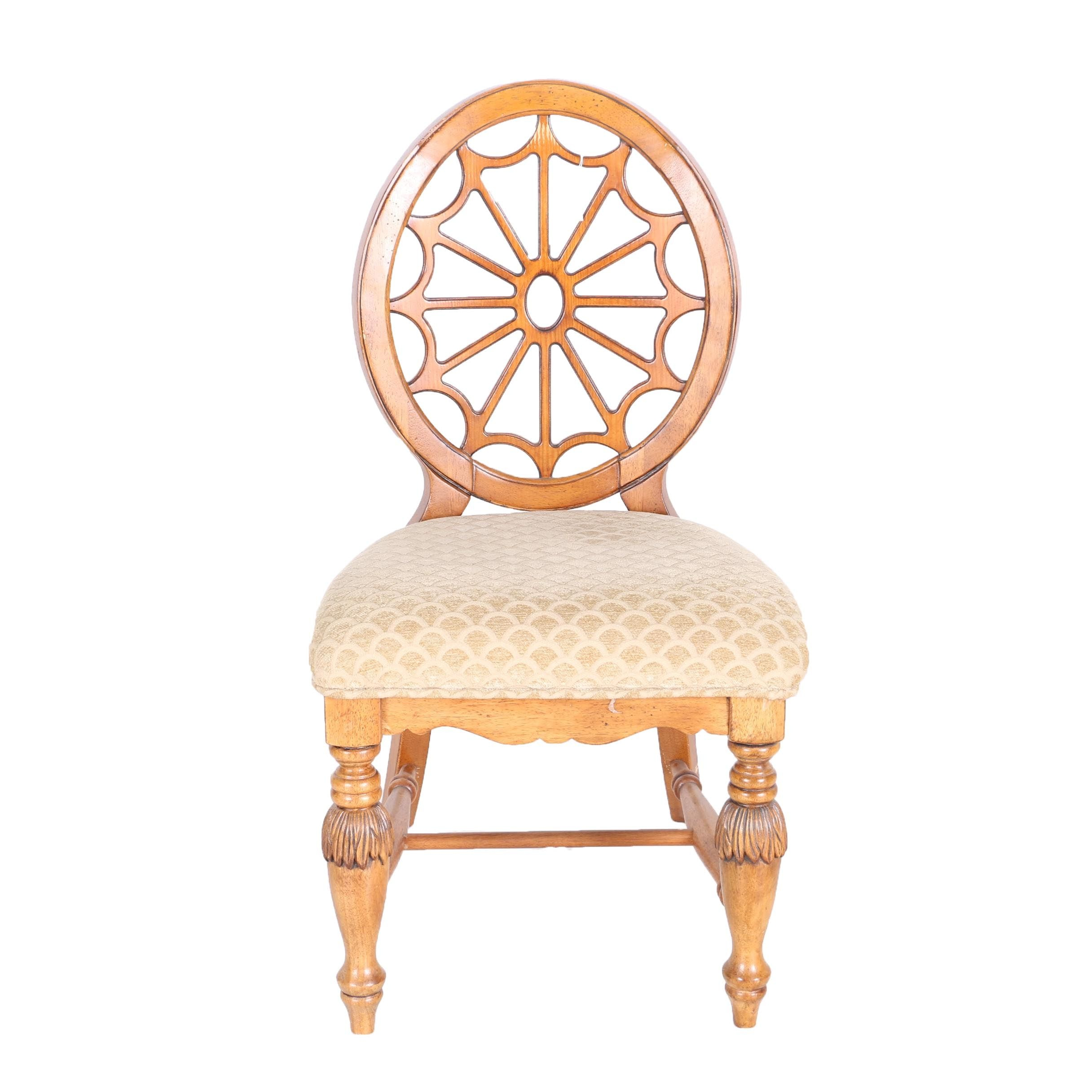 Contemporary Sheraton Style Spider Web Side Chair