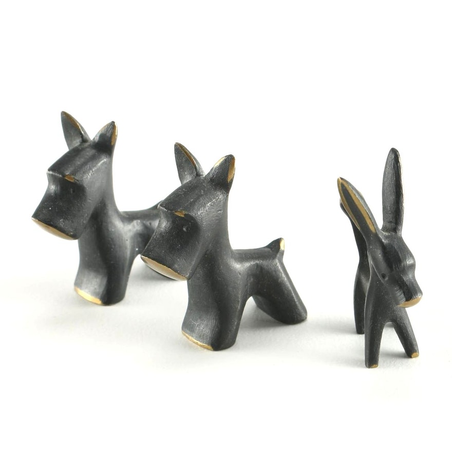 contemporary brass modern vienna bronze figurines after walter  - contemporary brass modern vienna bronze figurines after walter bosse