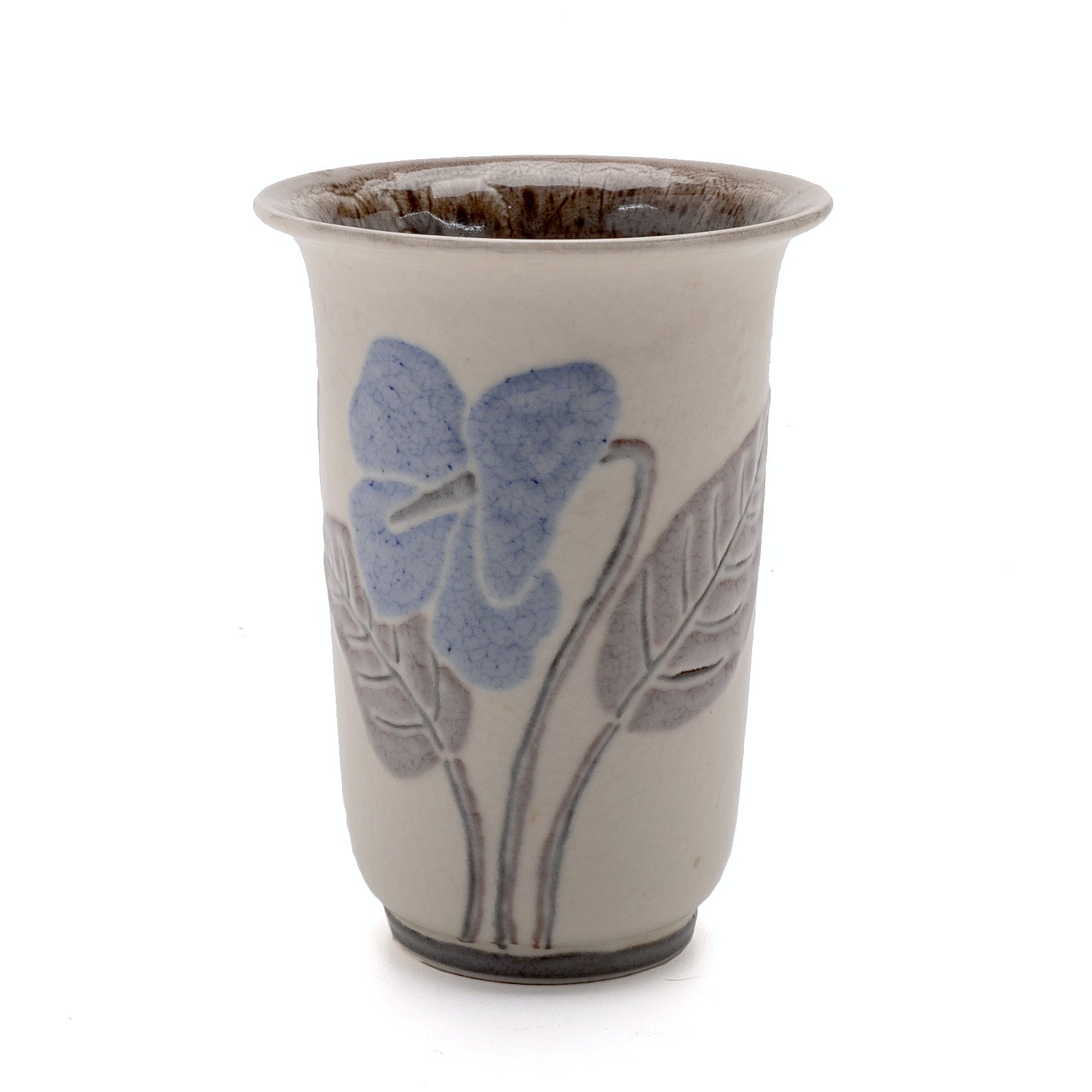 1944 Rookwood Pottery Floral Vase Ebth