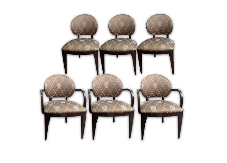 "Berman/Rosetti Upholstered ""Jake"" Dining Chairs"