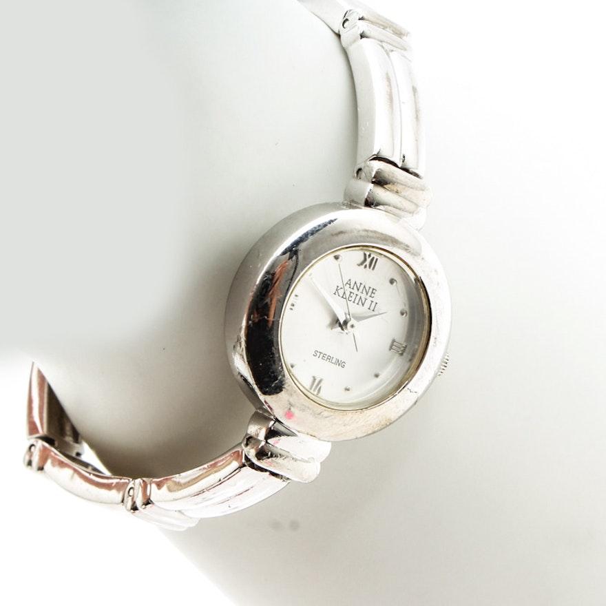 Vintage Anne Klein Sterling Silver Women S Wristwatch Ebth