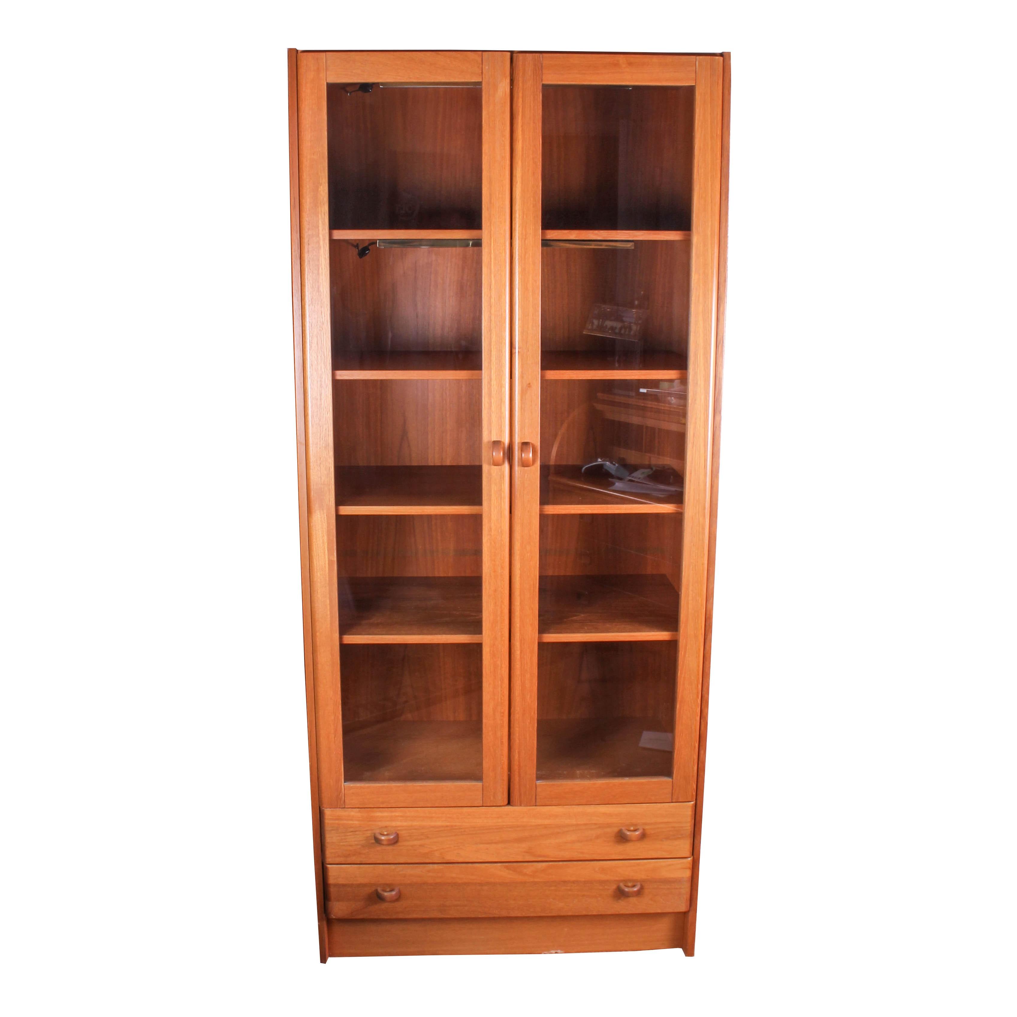 danish modern display cabinet