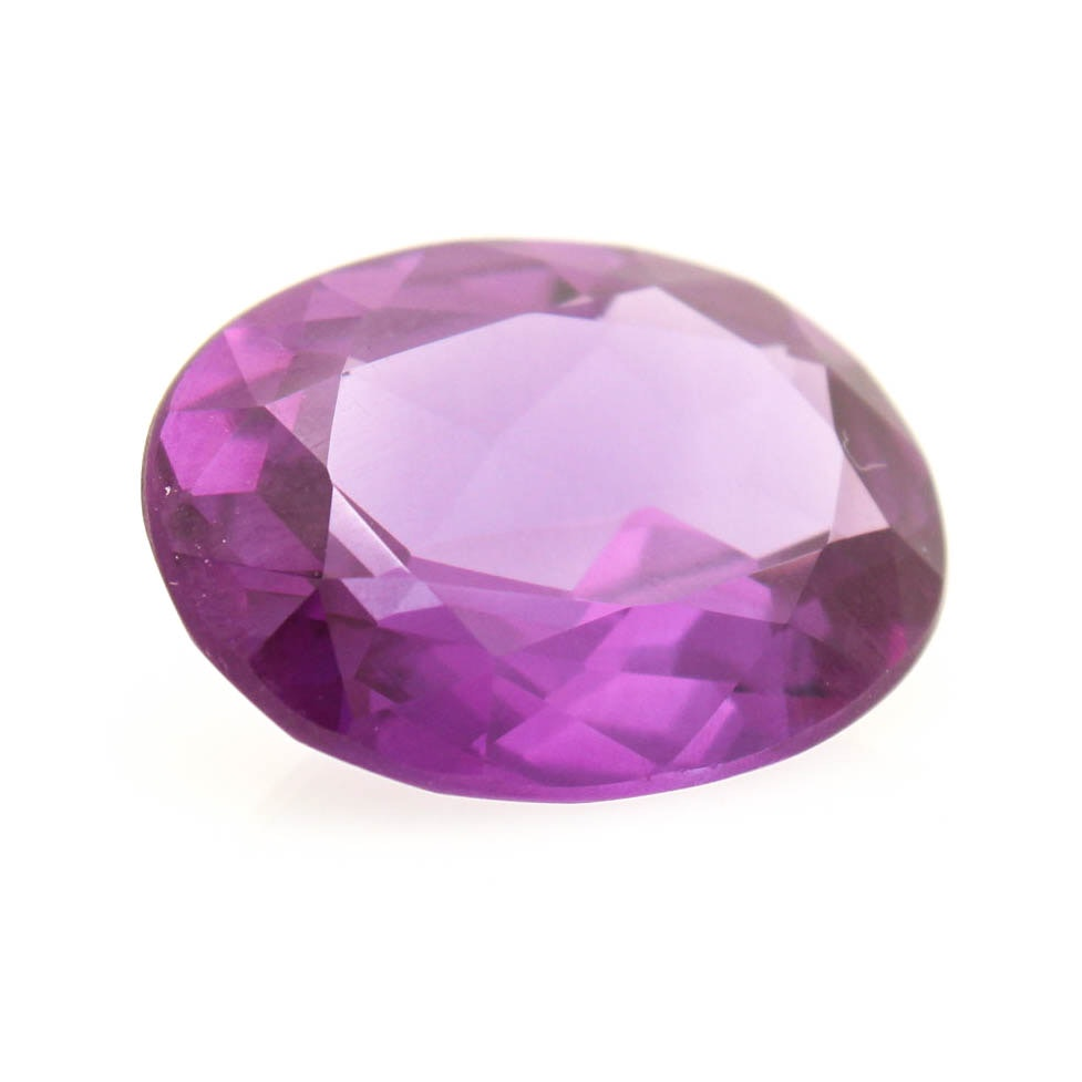 19.95 CT Flame Fusion Synthetic Color Change Sapphire