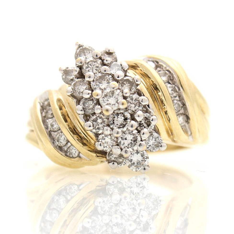 14K Yellow Gold 1.20 CTW Diamond Ring