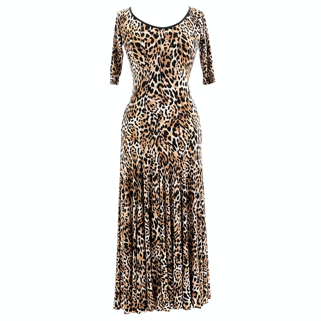 "LeNique Leopard Print Dress Susan Wore During Rehearsals for ""Dancing With The Stars"""