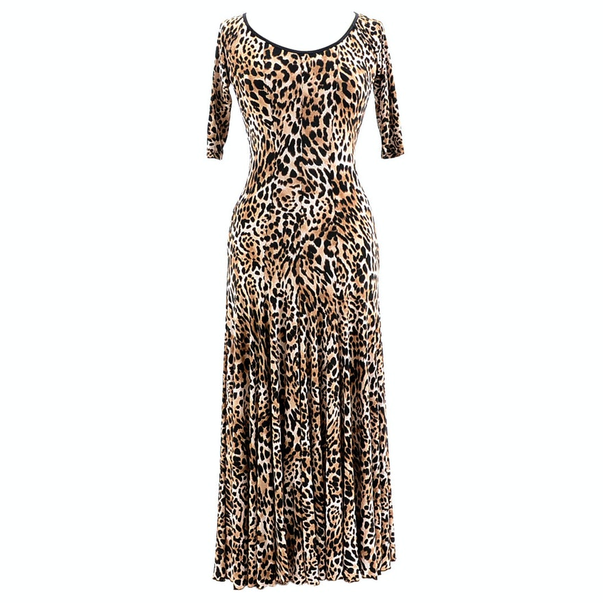 """LeNique Leopard Print Dress Susan Wore During Rehearsals for """"Dancing With The Stars"""""""