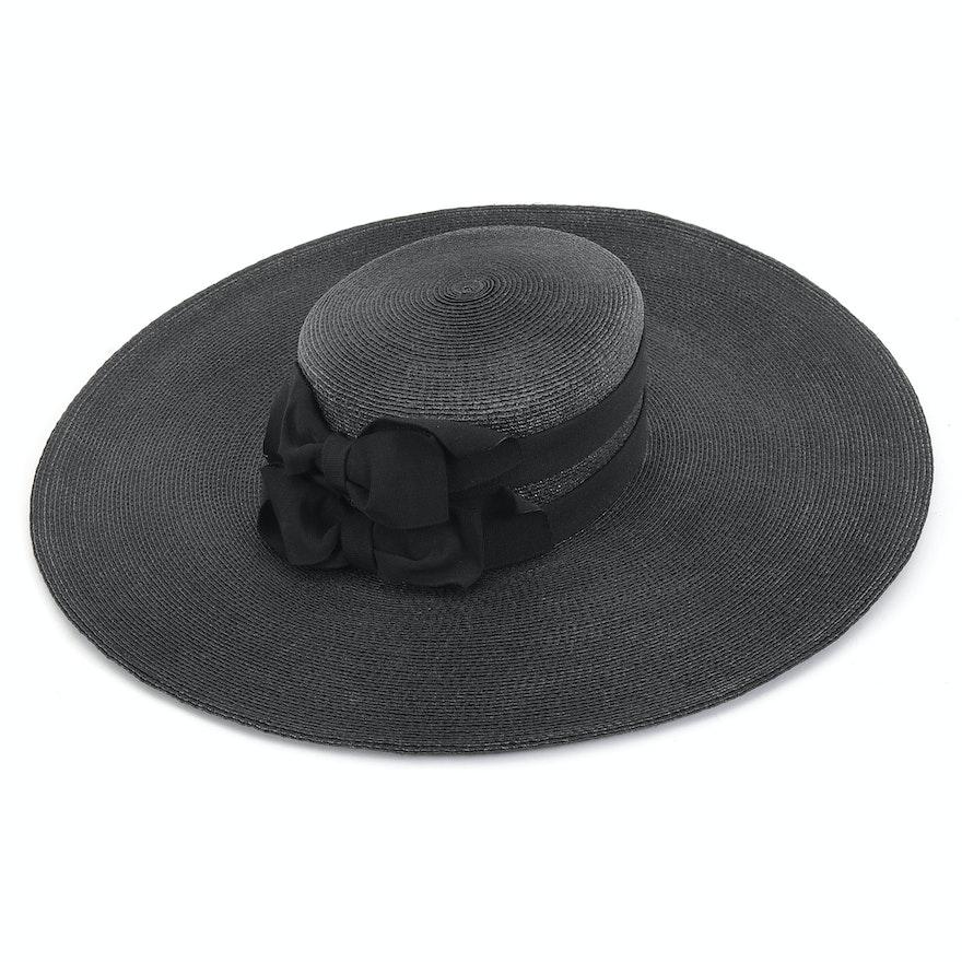 3f03c3e1634 Tracey Tooker of New York Black Cellophane Kentucky Derby Hat   EBTH