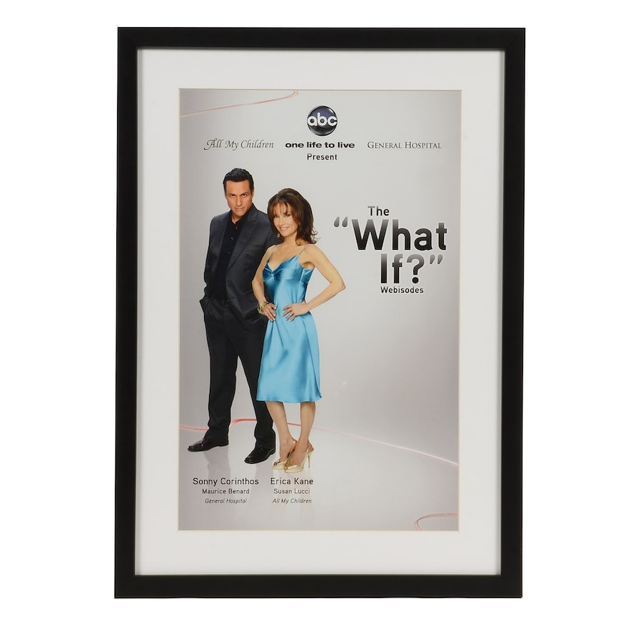"""Susan Lucci Offset Lithograph """"The 'What If?' Webisodes"""" Poster"""