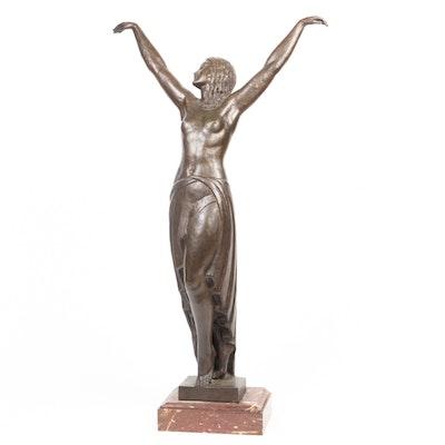 Pierre Le Faguays Art Deco Bronze Sculpture