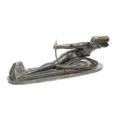 """Marcel André Bouraine """"Penthesilea, Queen of the Amazons"""" Bronze Sculpture"""