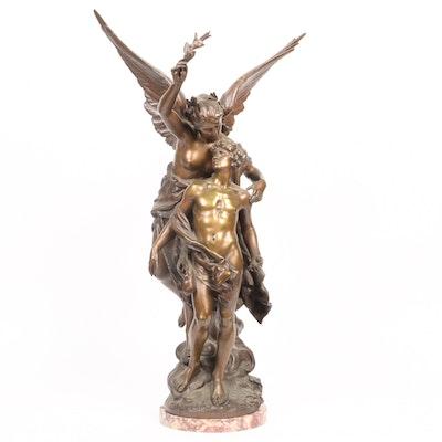 "Bronze Sculpture ""Immortality"" After a Model by Mathurin Moreau"