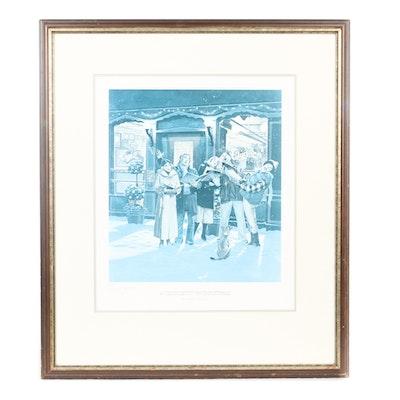 "Darrel Millsap Limited Edition Print ""A Georgetown Christmas"""
