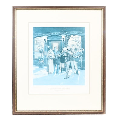 "Darrel Millsap Limited Edition Print ""A Georgetown Christmas"""