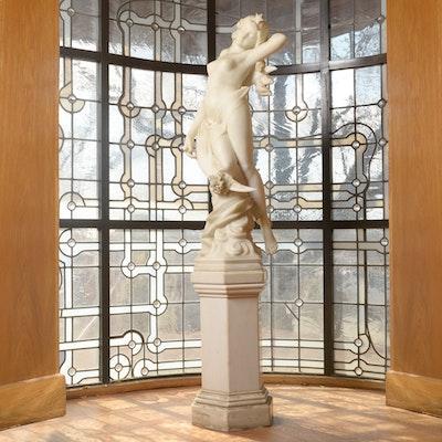 Rafaello Battelli Marble Statue of Diana