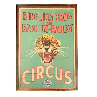 Vintage Ringling Bros Barnum & Bailey Leopard Circus Poster