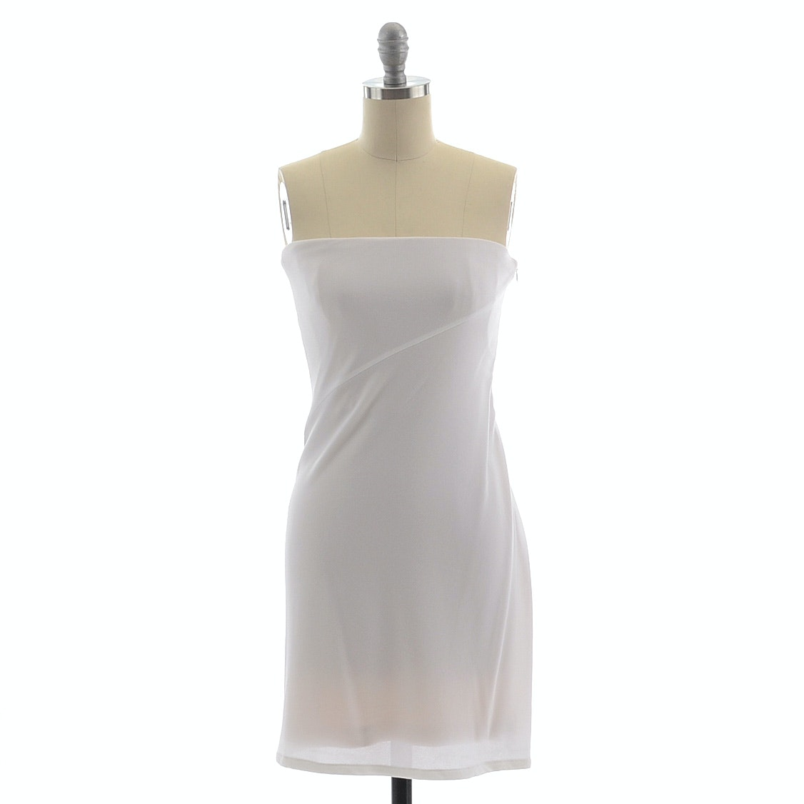 Calvin Klein Collection Strapless Body Con Dress in White