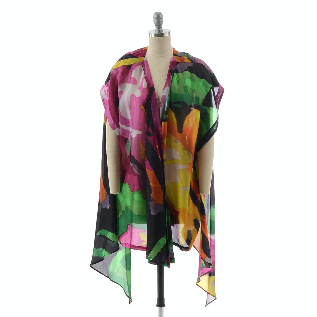 Etro Multi-Color Silk Sleeveless Jacket