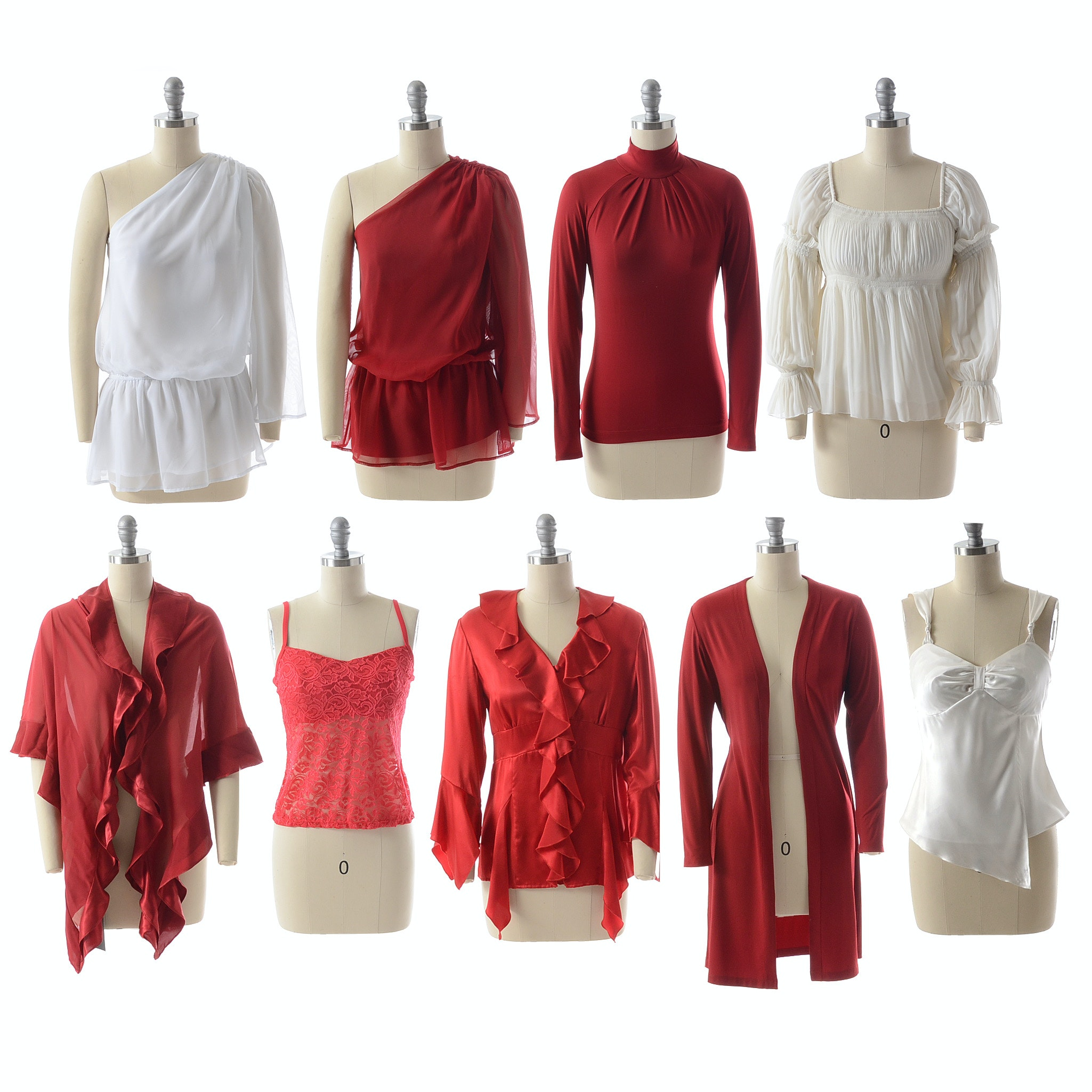 Susan Lucci Brand Red and White Tops