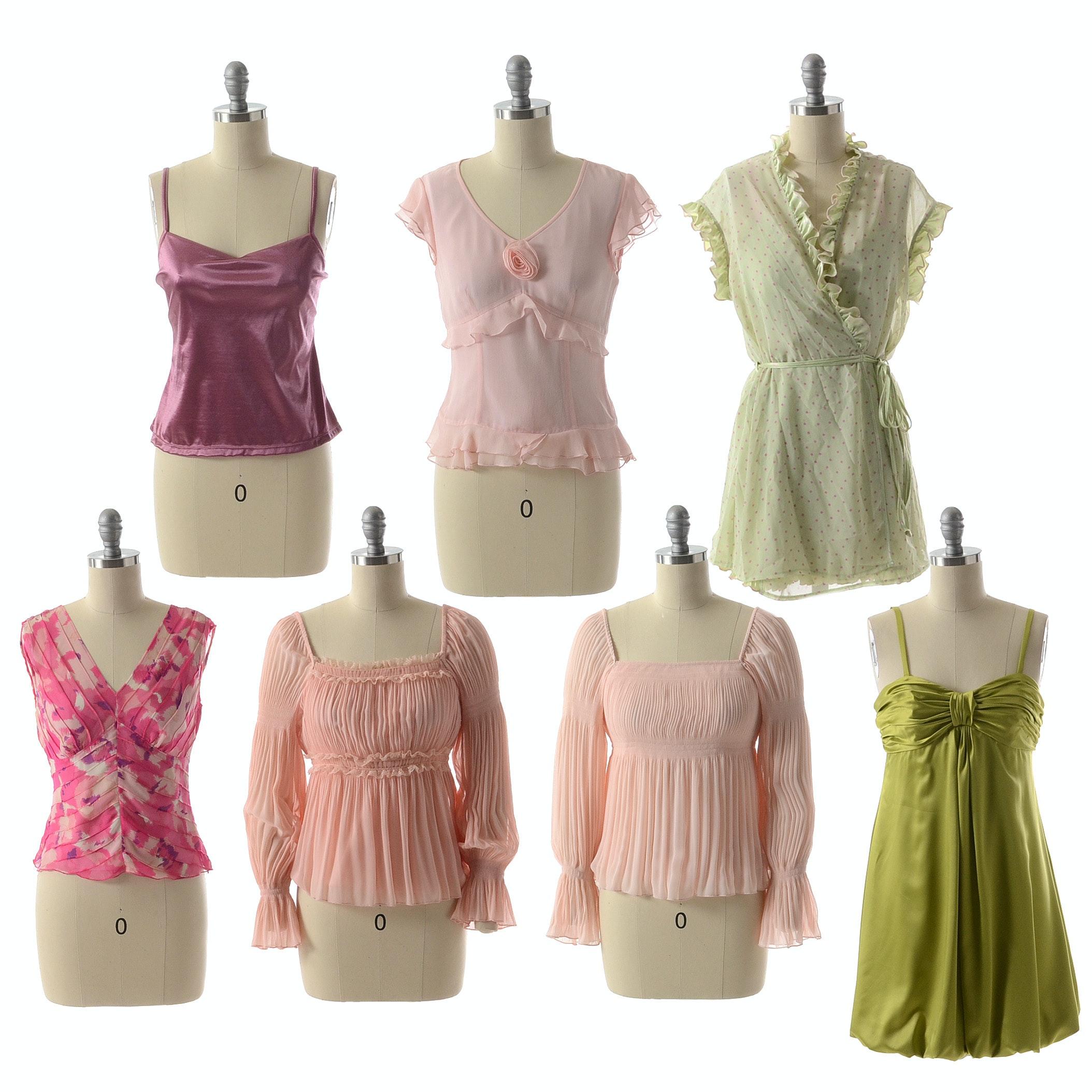 Susan Lucci Brand Tops, Dress, and Peignoir Set