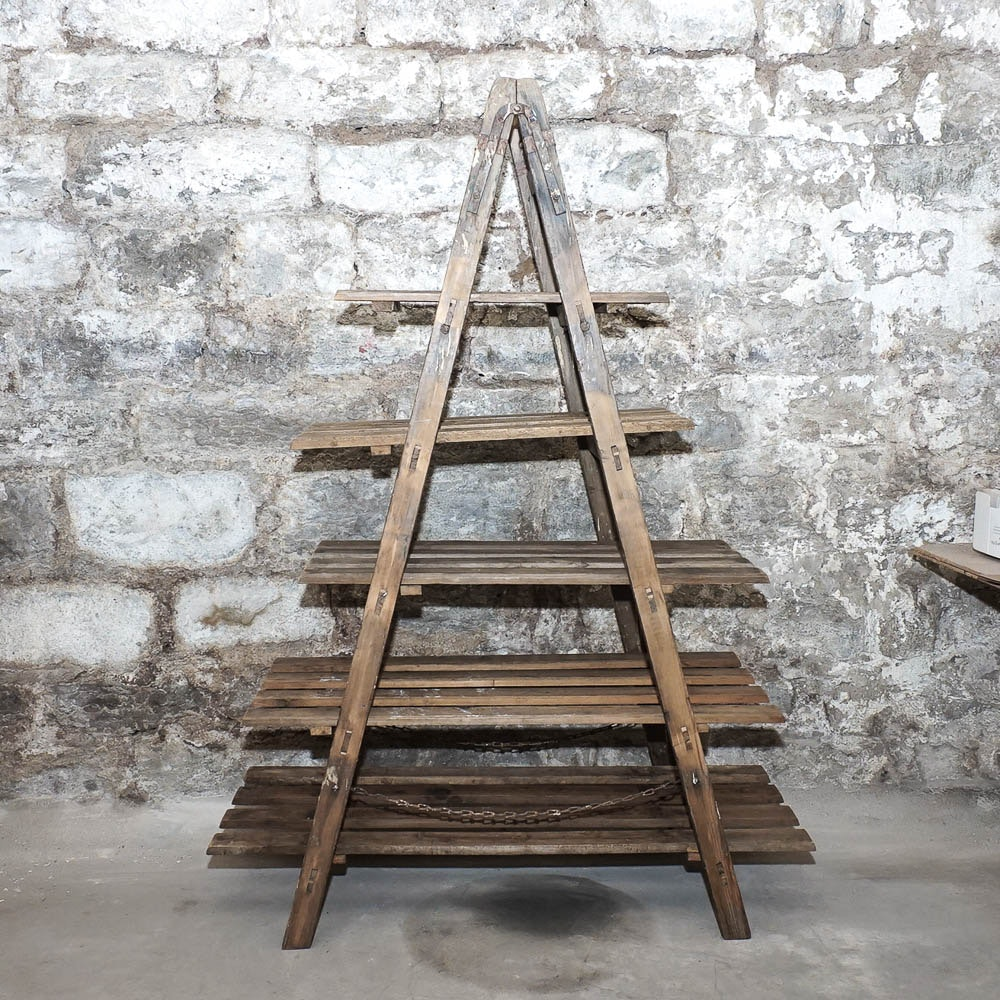 Repurposed A-Frame Ladder Bookcase