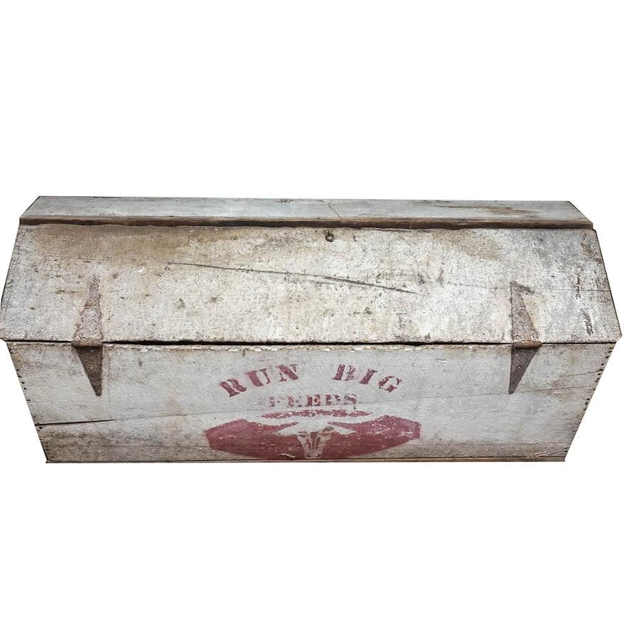 Vintage Wooden Feed Bin Ebth