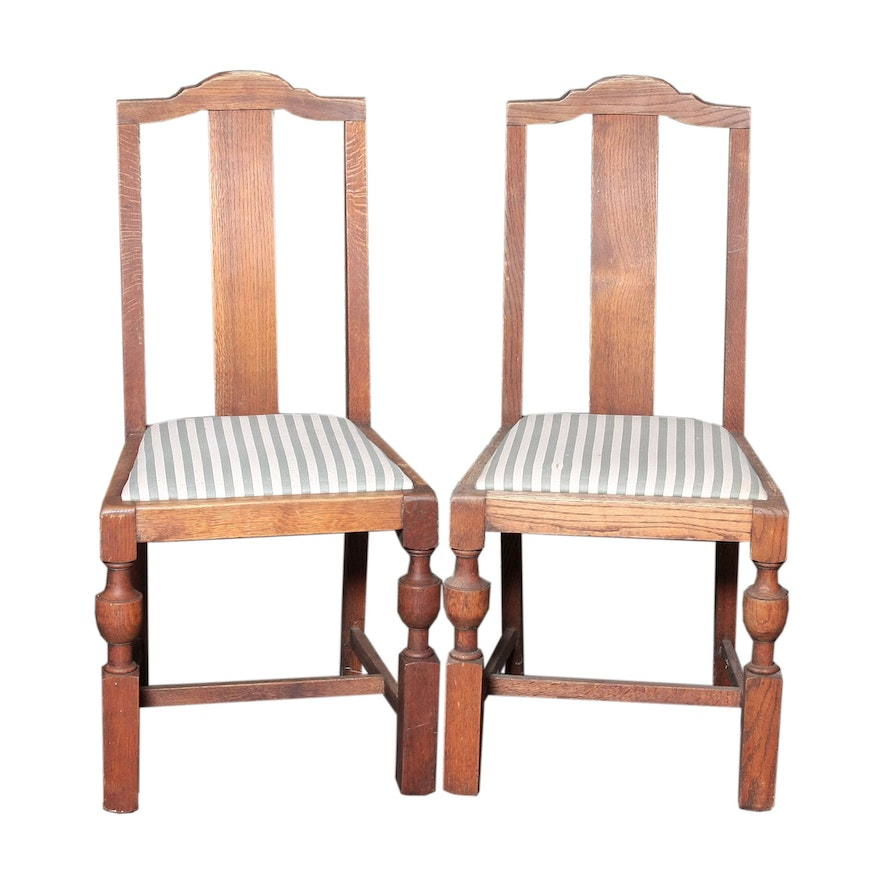 Vintage Revival Style Oak Dining Chairs ... - Vintage Revival Style Oak Dining Chairs : EBTH