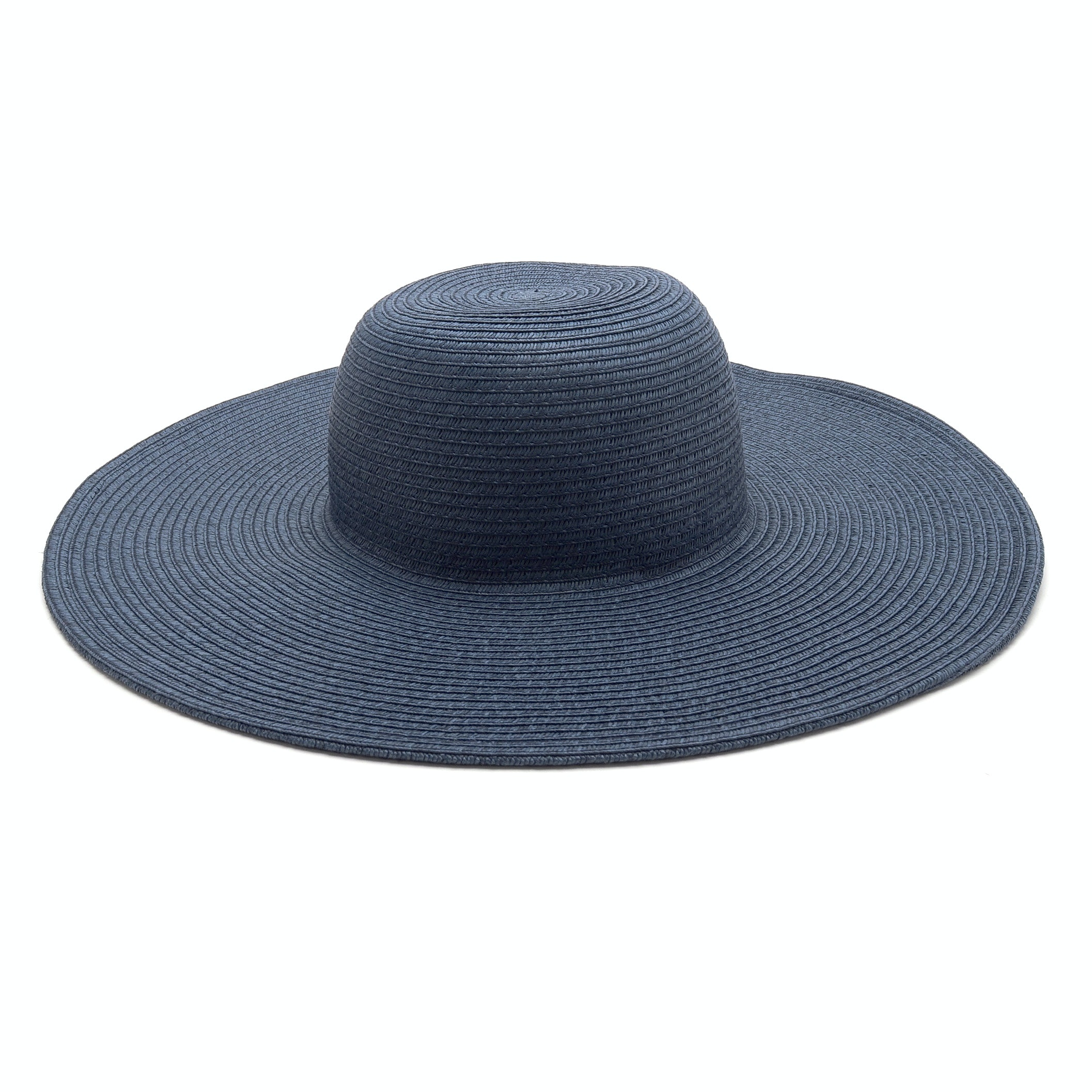 J. Crew Denim Blue Paper Straw Floppy Hat