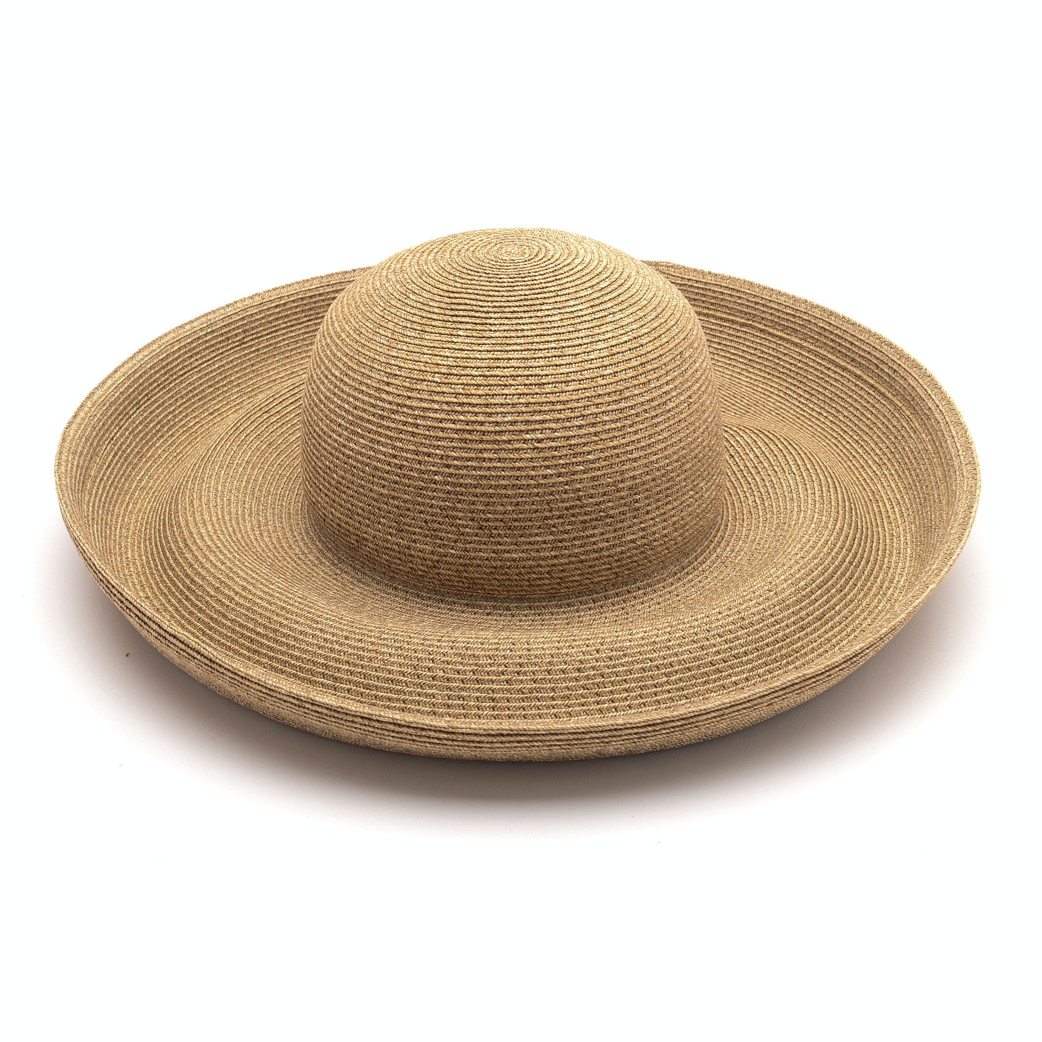 Eric Javits of New York Natural Straw Hat with Upturned Brim