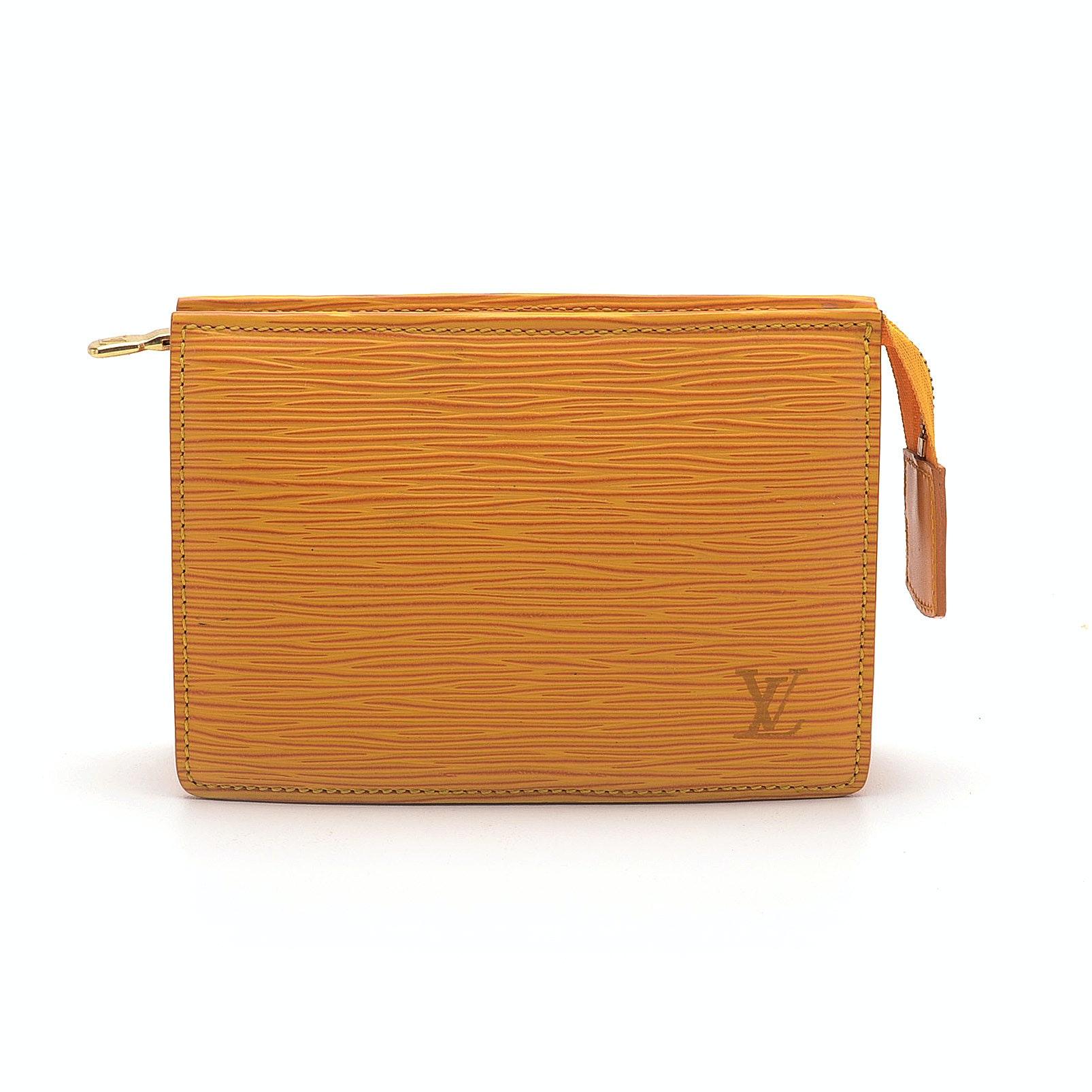 Louis Vuitton Tasili Yellow Epi Leather Small Cosmetic Bag