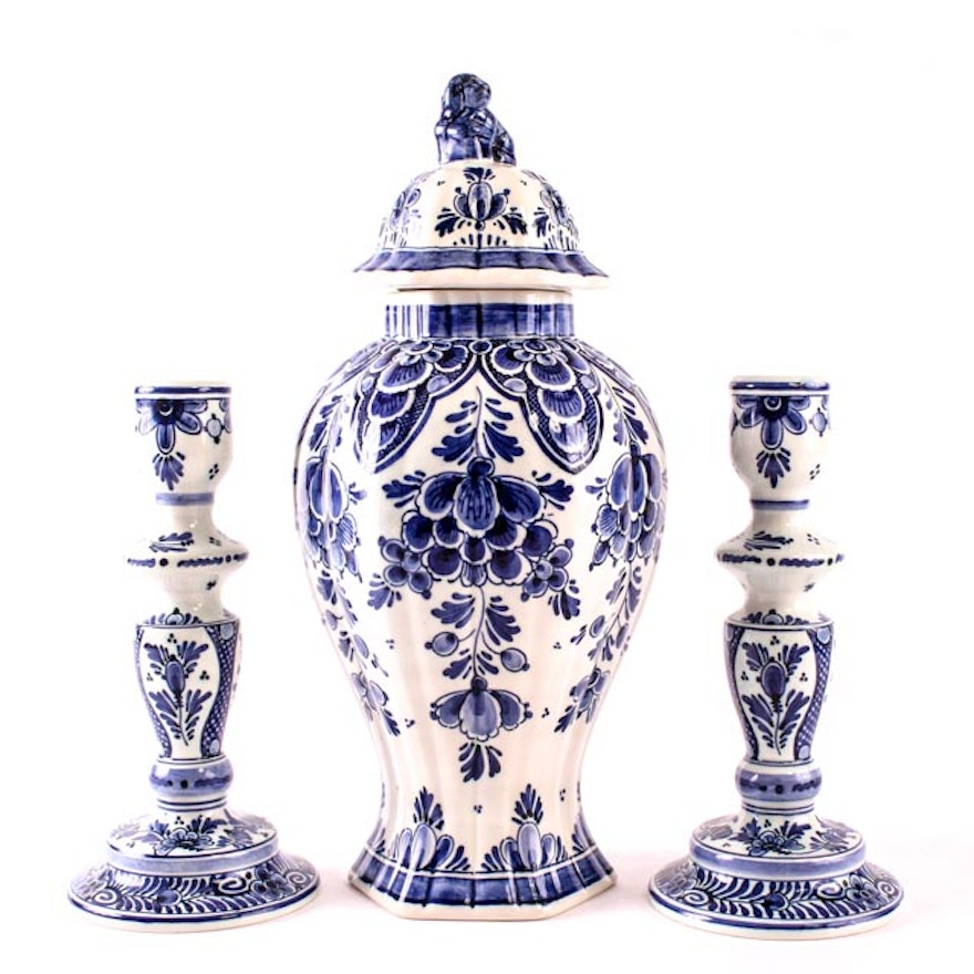 Collection Of Delft Pottery Ebth
