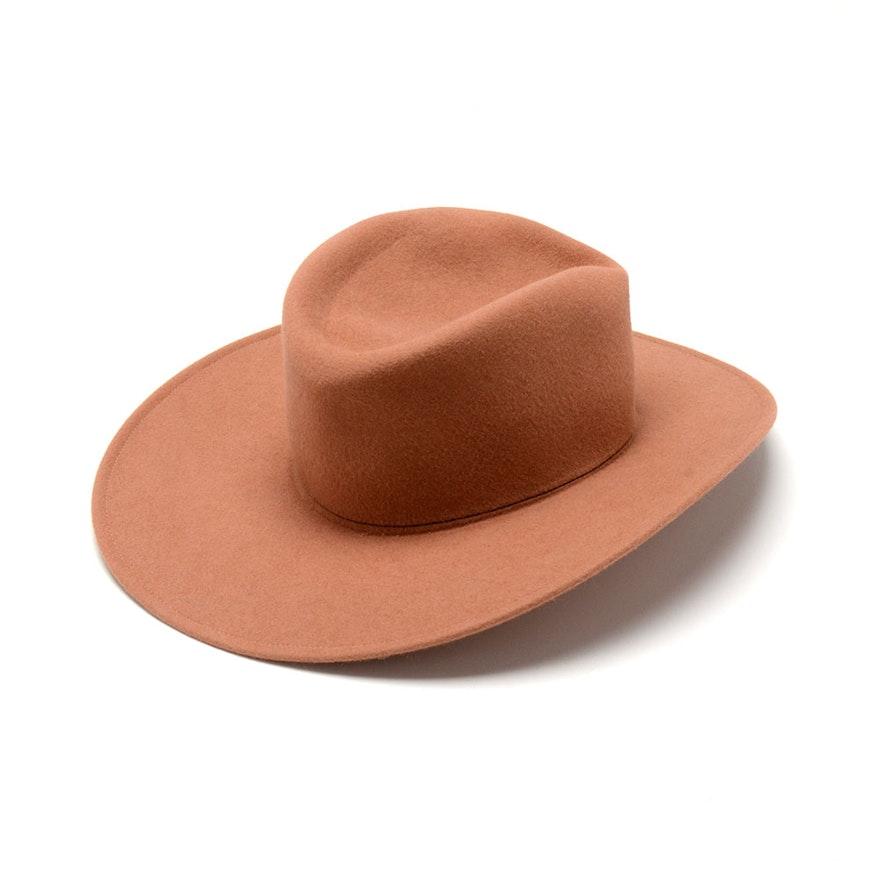 Anne Moore of New York Fine Millinery Mocha Fur Felt Hat