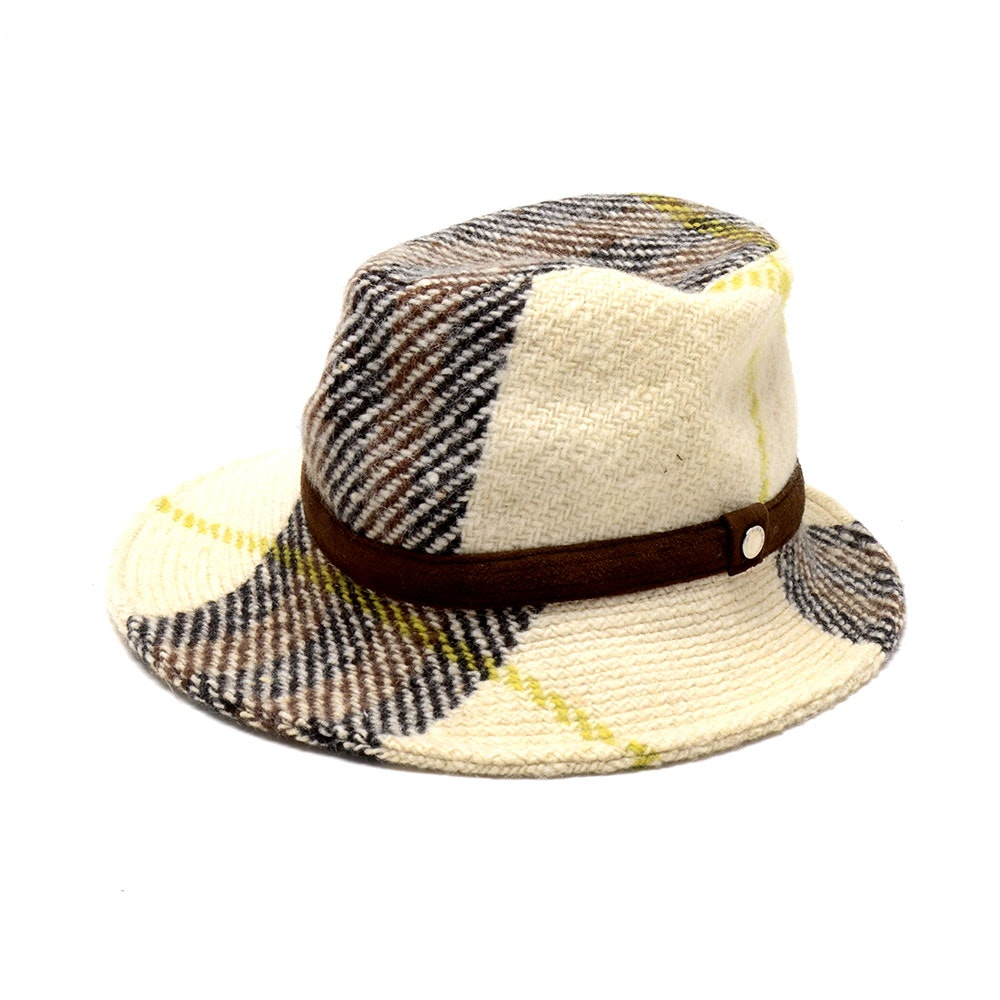 Burberry by Philip Treacy Knit Wool Asymmetrical Fedora Hat New With Tag