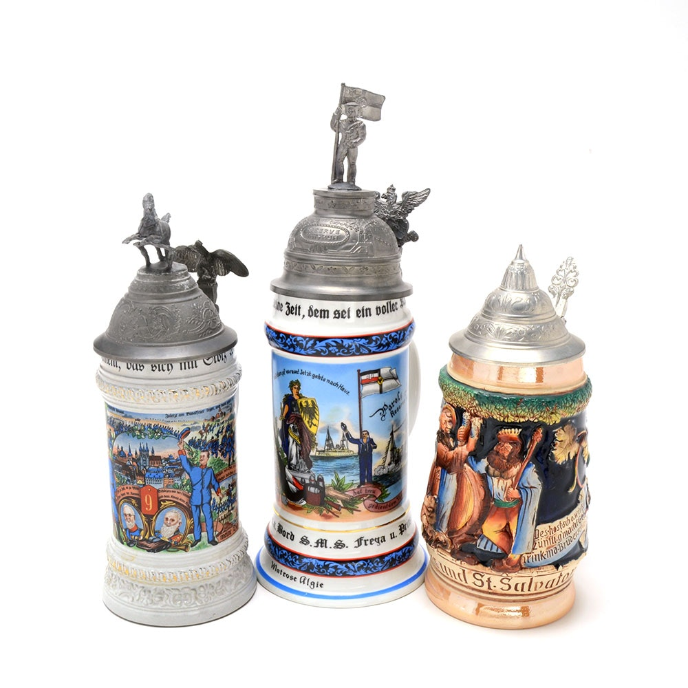 Three German Steins