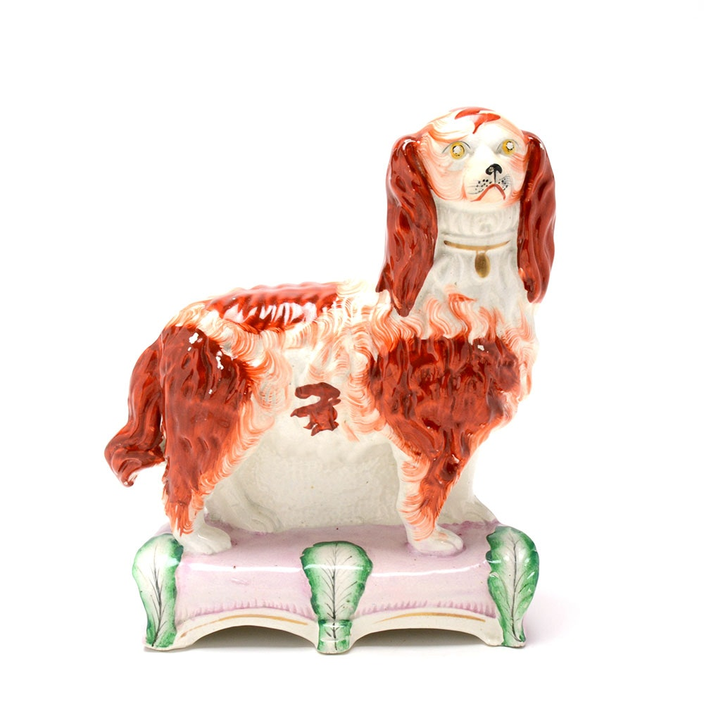 Early Staffordshire Dog Figurine