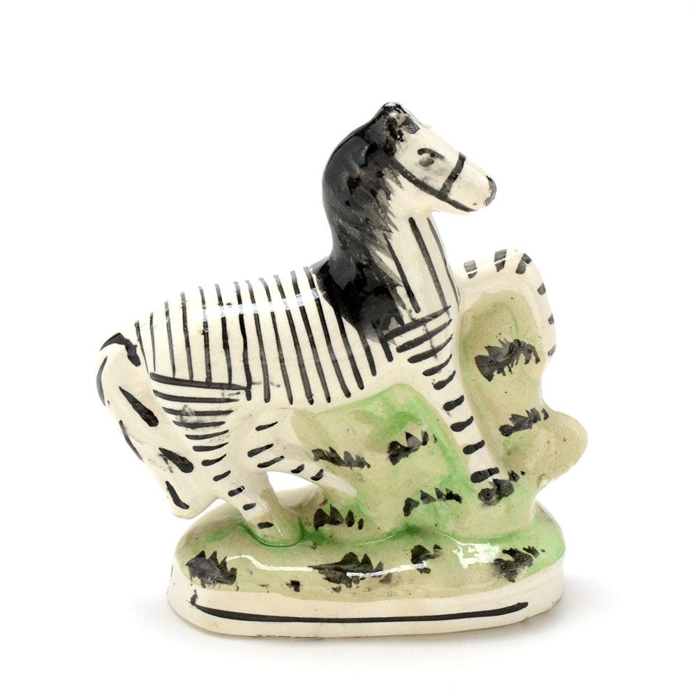 Early Staffordshire Zebra Figurine