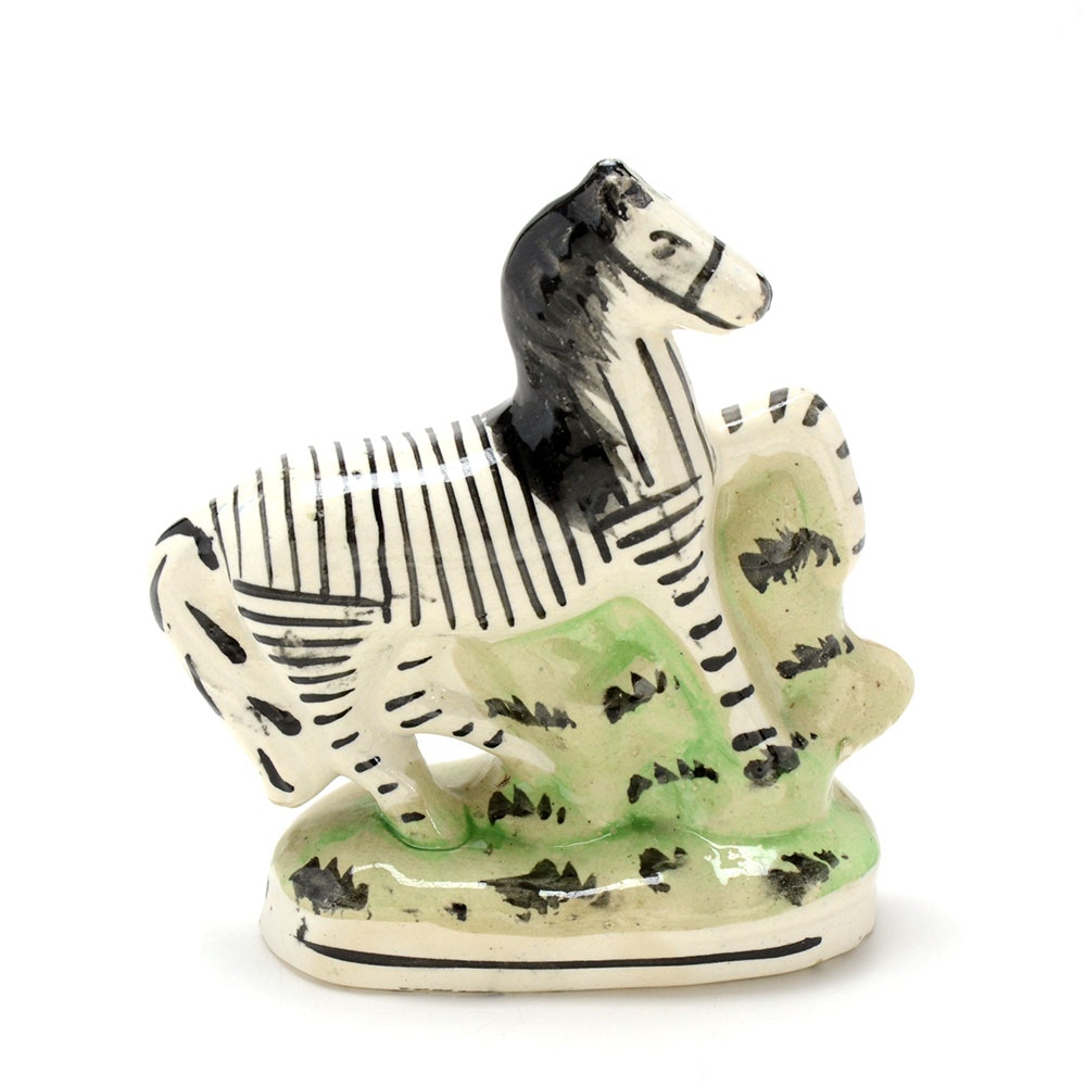 Early Staffordshire Zebra Figurine