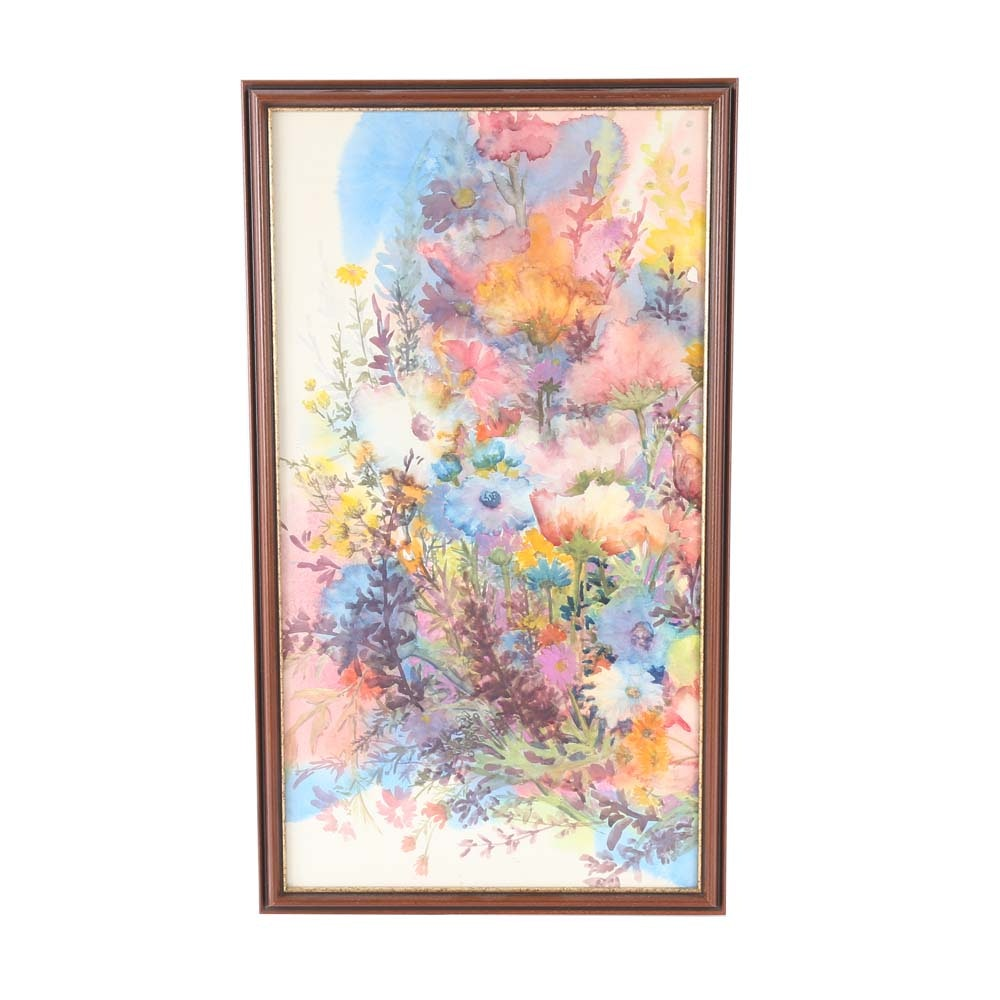 Original Floral Watercolor