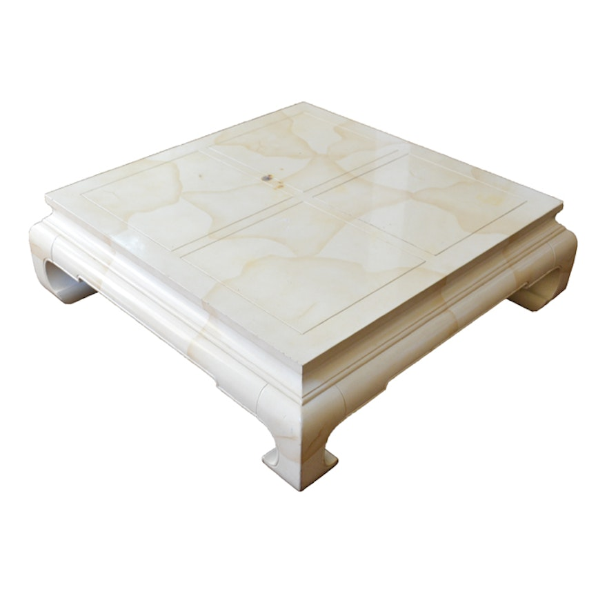 Off White Square Coffee Table