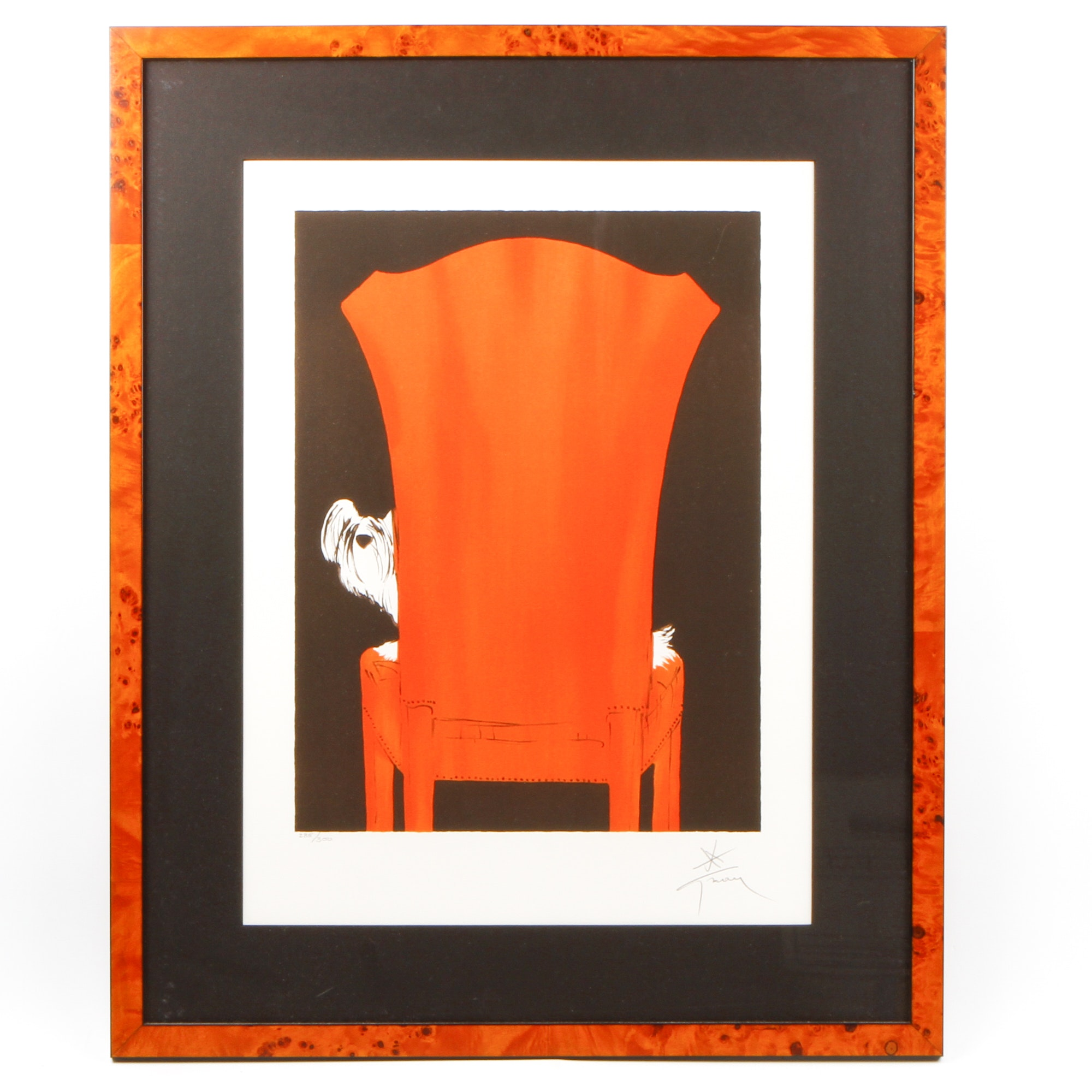 "René Gruau Limited Edition Giclee on Paper ""Le Fauteuil"""