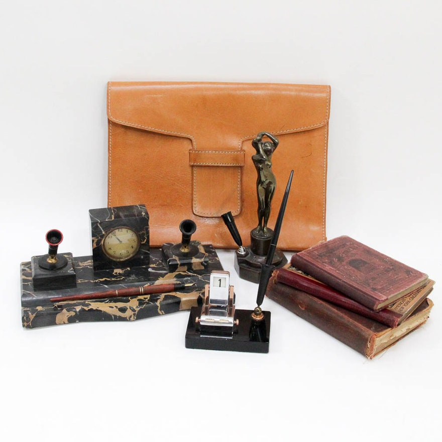 Collection of Antique to Vintage Desk Sets and More ... - Collection Of Antique To Vintage Desk Sets And More : EBTH