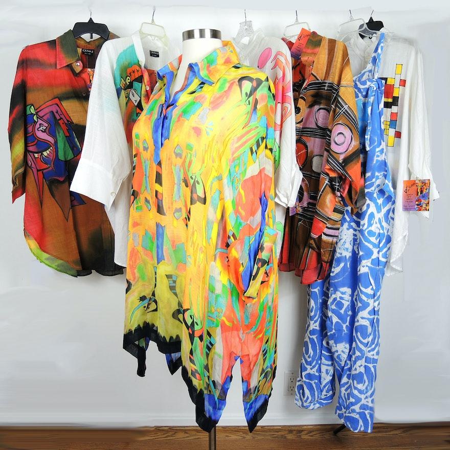 Womens Plus Size Dilemma Hand Painted Designer Clothing Ebth